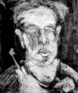 Self-portrait with a Toothbrush