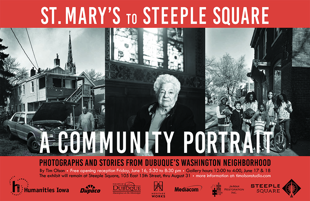 Steeple Square Bus Poster