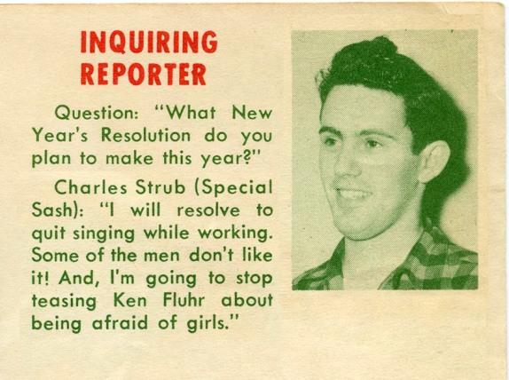 From the Bilt-Well Bulletin, December, 1949