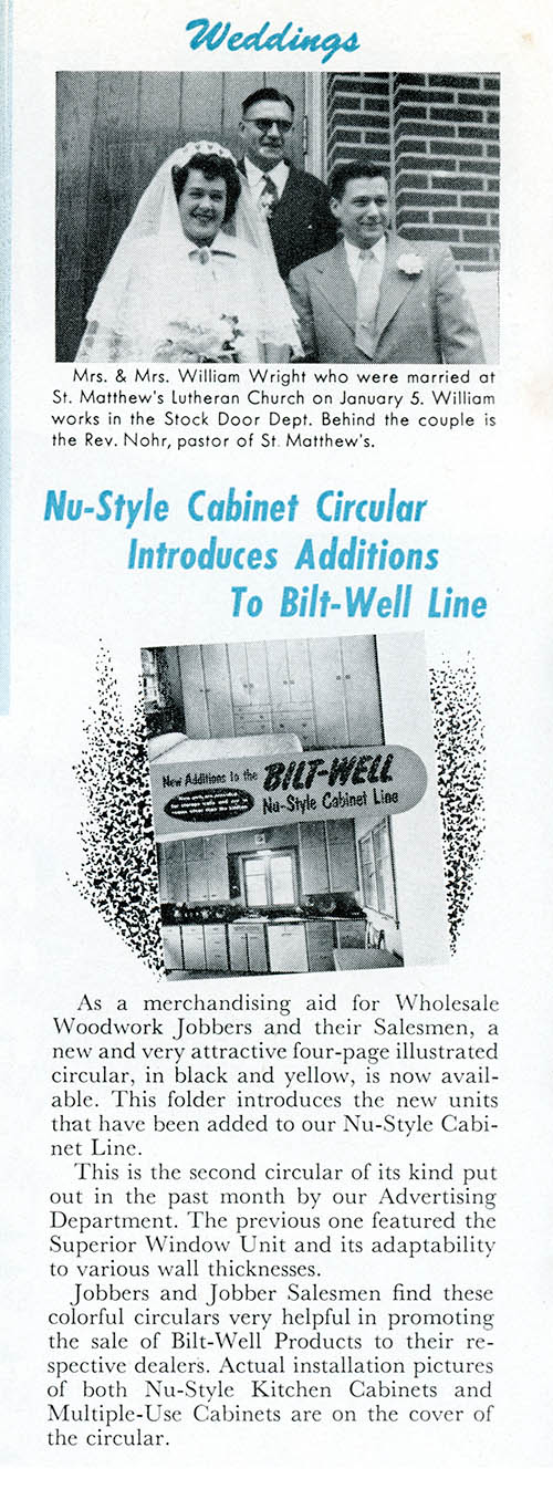 From the Bilt-Well Bulletin, February, 1952