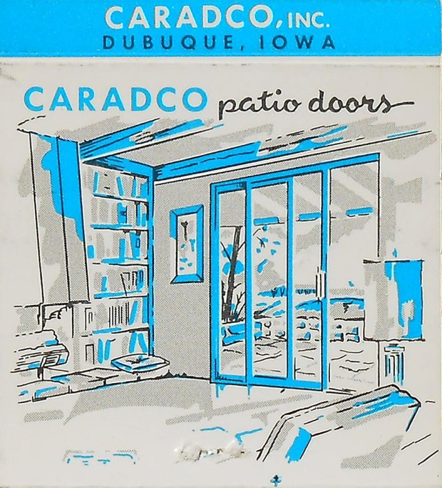 Caradco matchbook cover