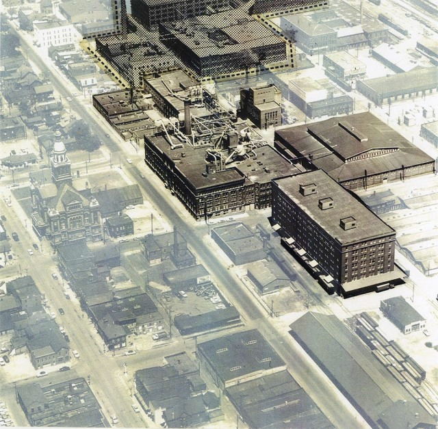 Farley & Loetscher buildings in the 1950s