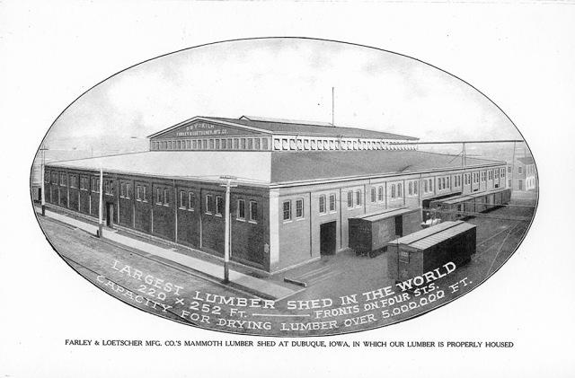 Farley & Loetscher Lumber Shed circa 1910