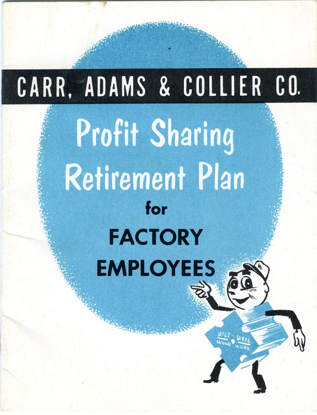 Retirement Plan pamphlet cover from 1952