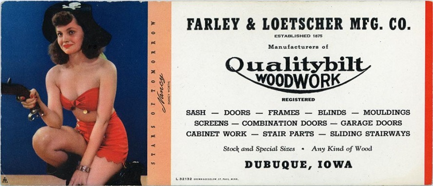 Farley & Loetscher advertising card from the 1950's.